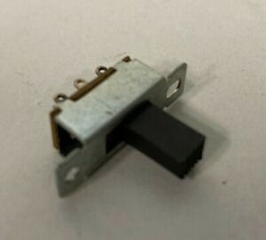 BAG OF 10 - SSW2 - BLACK DPDT Miniature Slide Switch