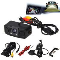 3in1 170º Car Reverse Backup Parking Radar Rear View Camera With Parking Sensor