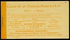 FRANCE : 1906-21. Yvert #158C1 Complete Booklet of 40. VF MNH. Catalog €260.00.