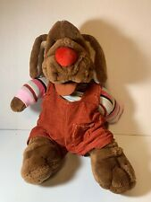 Vintage Wrinkles Dog Hand Puppet 1981 Ganz Bros. Plush Stuffed Animal Toy