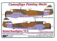 AML Models 1/72 CAMOUFLAGE PAINT MASKS BRISTOL BEAUFIGHTER TF.X