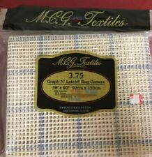 Mcg Textiles Graph 'N Latch Rug Canvas (3.75) 36�x 60� New Old Stock Must See!