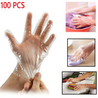 HN- FT- 100 Pcs Large Plastic Disposable Gloves for Kitchen Cooking Cleaning
