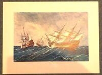 Kunstdruck Seeschlacht gemalt um 1886 von Rafael Monleon Poster 44,5 x 33,5 (M2)
