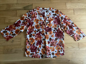 Used M&S Per Una Blouse Size 14 Flowers Pattern