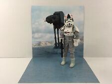 """custom star wars hoth at-at backdrop ikea detolf display 12"""" sideshow hot toys"""