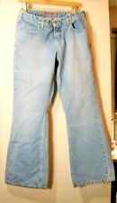 30 X 31 Silver Flare Leg Jeans    Label Says 31/32