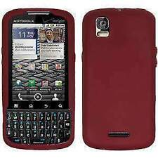 AMZER Silicone Skin Jelly Case for Motorola DROID PRO XT610 - Maroon Red