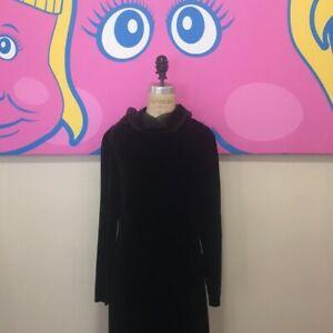 Jil Sander Women's Velvet Evening Dress Black Size 36