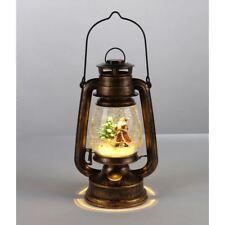 Led-Petroleumlampe Papá Noel 34,5cm Bola de Nieve Luces de Navidad Decoración