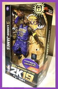 🔥LEBRON JAMES NBA 2K19 FIGURE x McFarlane LA LAKERS RARE 20th ANNIV NTWRK Toy👑