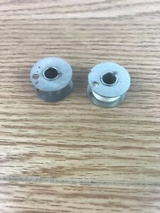 2 Antique Class 66 1 Hole Singer Sewing Bobbins for 66 99 101 201 401 500 L50