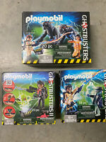 Lot 3 Playmobil Ghostbusters Figures 9346, 9223, 9224 - NEW Sealed Free Shippi
