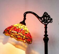 Tiffany Style Hanging Floor Lamp Stained Glass Light Vintage Handcrafted Lamps