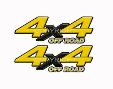 4X4 OFFROAD Yellow Black Decals Truck Graphic Laminated Stickers 2pack KM096ORBX