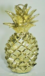 Decorative Gold Tone Pineapples Card Holder Name Tags Small Set of 8