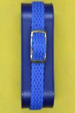 Bracelet montre ;NYLON TRESSE ,style NATO; BLEU ;Largeur 8mm ;Longueur22 cm.NEUF