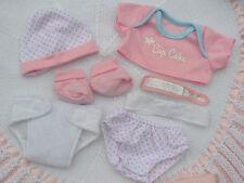 Pijama ❤ Lunares ❤ Cupcake Pañales Camiseta Pantalones Sombrero Bootie Set para 14 pulgadas Muñeca Bebé
