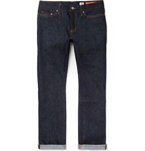 NEW $265 JEAN SHOP BOWIE Slim-Fit Raw SELVEDGE Denim Jeans sz.31Wx34L