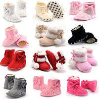 Baby Girls Boy Warm Snow Boots Infant Toddler Crib Shoes Prewalker Size 0 1 2