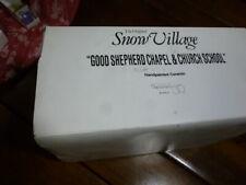 Dept 56 Snow Village Good Shepherd Chapel and Church School Retired 54240