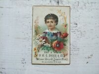 Antique Trade Card W G Sherer & Co Clover Brand Japan Tea Victorian Ellsworth WI