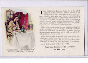 Advertising Postcard - American Thermos Bottle Co of NY Ideal Cocktail Pitcher