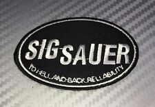 Embroidered Patch Iron Sew SIG SAUER gun army pistol weapon sniper military t