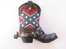 Western Small Ceramic Cowboy Boot Pencil Holder Collectible New (1884)