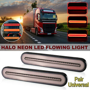 2X 100 LED Trailer Tail Light Truck Caravan UTE Boat Camper Reflecter Waterproof