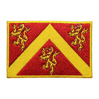 Anglesey County Flag Patch Iron On Patch Sew On Embroidered Patch