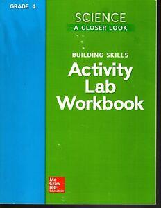 Science:A Closer Look-Building Skills Activity Lab Workbook Grade 4 - Homeschool