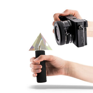 """Colorful Pyramid Prism with1/4"""" screw (In-camera prism lens fx)"""