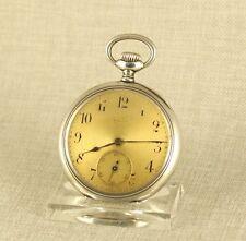 ZENITH Taschenuhr Herren Silber Uhr Handaufzug Alte silver watch mechanische 掛表