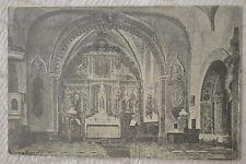 """CPA """" ROQUEFEUIL - L'Eglise - Rétable en bois doré du XVIe siècle"""