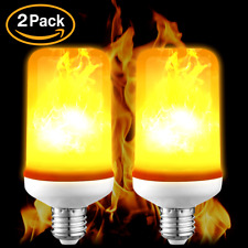 2PCS E26/E27 LED Flicker Flame Light Bulb Simulated Burn Fire Effect Party Decor