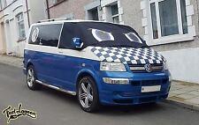 VW Transporter T5 Window Screen Wrap Cover Frost Black Blinds Blue Eyes Camper