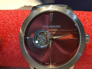 Aragon A191 Ultra Open Heart Automatic Red