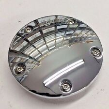5 HOLE CHROME DOMED TIMING COVER hd harley twin cam big twin points 1999 up