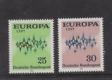 WEST GERMANY MNH STAMP DEUTSCHE BUNDESPOST 1972 EUROPA SG 1618-1619