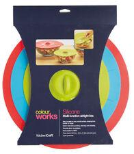 Kitchen Craft Colourworks Silicona Juego de 3 Succión Comida & BOL Fundas PAN