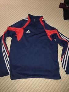 Men's Adidas Long Sleeved Climacool Training Top 1/4 Zip Retro 40/42 Large