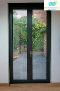 New, Aluminium french doors, anthracite grey * 1500 x 2100 *