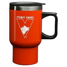 Sydney Swans AFL Steel Thermal Insulated Travel Coffee Mug Cup Handle Gift