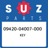 09420-04007-000 Suzuki Key 0942004007000, New Genuine OEM Part
