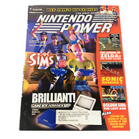 Nintendo Power Magazine Volume 166 The Sims + Def Jam Record Poster N64 Gamecube