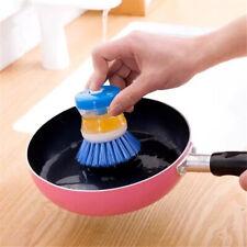 Kitchen Soap Dispenser Dish Bowl Washing Brush Cleaner Cleaning Scrubbing Random