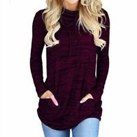 Loose Casual Shirt Women's Fashion T-shirt Solid Ladies Blouse Tops Long Sleeve