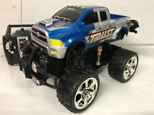 MONSTER TRUCK RADIO REMOTE CONTROL CAR  STUNT FAST SPEED BLUE RED BLACK BOXED UK
