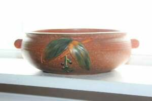 Weller Pottery Brown Cornish Bowl Vintage 1930s